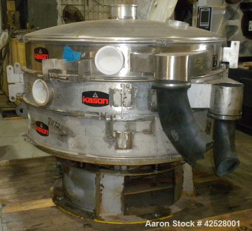 """Used- Sweco Screener, Model UL60S1088, 304 Stainless Steel. 60"""" diameter, double deck, 3 separation, with top cover and slid..."""