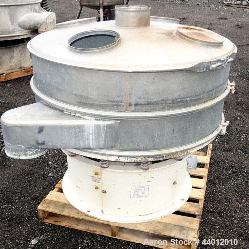 "Used- Sweco Screener, Model US48D88-HS, 316 Stainless Steel. 48"" Diameter single deck, 2 separation. 304 Stainless steel top..."