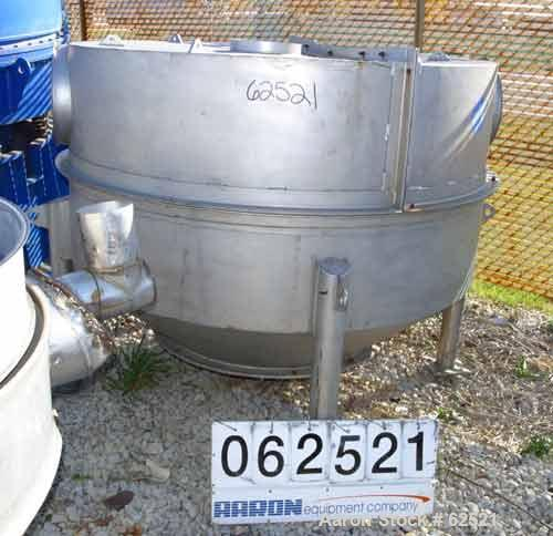 """Used- Sweco Screener, Model US 48D88-P.O.D., Stainless Steel. 48"""" Single deck. Unit enclosed in a 78"""" diameter x 36"""" enclosu..."""