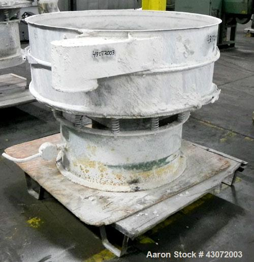"Used- Sweco Screener, Model US48S886, Stainless Steel. 48"" Diameter, single deck, 2 separation. No top cover. Driven by a 1 ..."