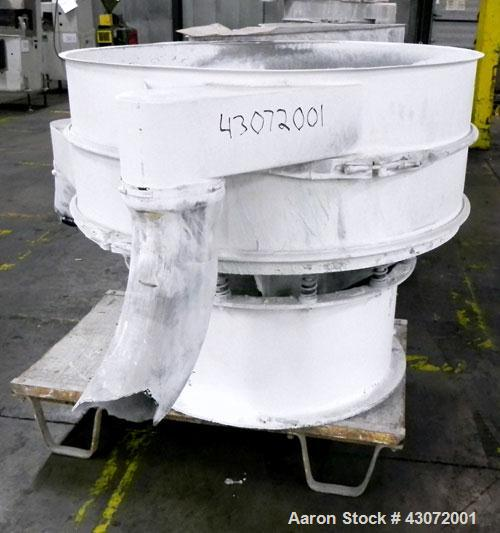 """Used- Sweco Screener, Model US48S888, 304 Stainless Steel. 48"""" Diameter, single deck, 2 separation. No top cover. Driven by ..."""
