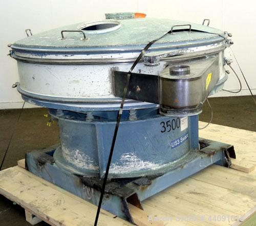 "Used- Sweco Screener, Model US60C82, Carbon Steel. 60"" Diameter bottom deck only. Carbon steel top cover. Driven by a 2.5hp,..."
