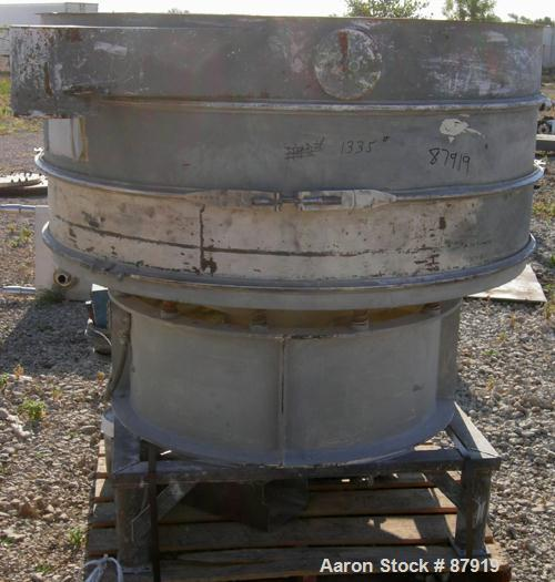 """USED: Sweco screener, model US60C88D, carbon steel. 60"""" diameter, double deck, 3 separation. No top cover. Driven by a 2.5 h..."""