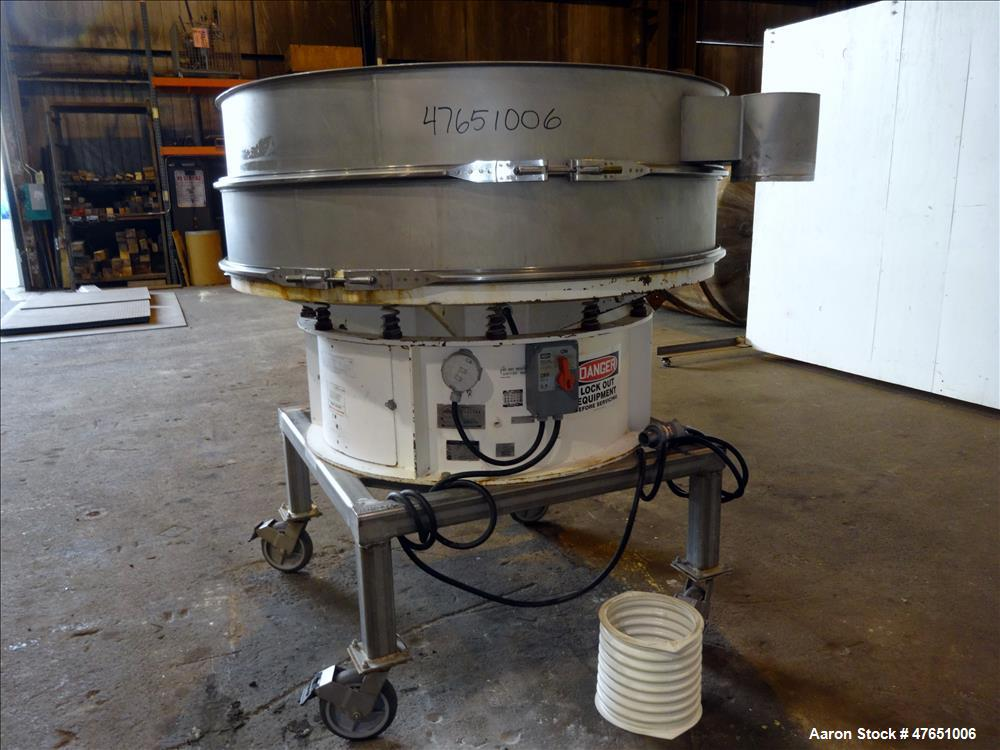 """Used- Sweco Screener, Model US60D810, 304 Stainless Steel, 60"""" Diameter."""