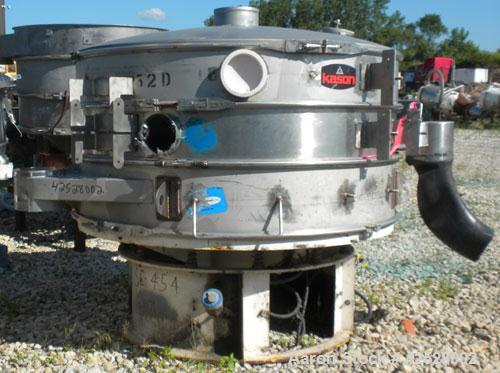 "Used- Sweco Screener, Model US60S1088-002, 316/304 Stainless Steel. 60"" diameter, double deck, 3 separation, with top cover ..."