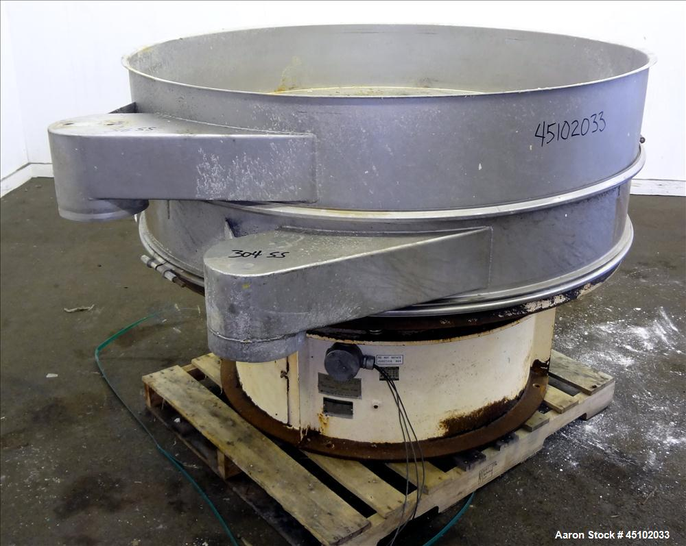 """Used- Sweco Screener, 60"""" Diameter, Model US60S810, Stainless Steel. Single deck, 2 separation, no top cover. Driven by a 2-..."""