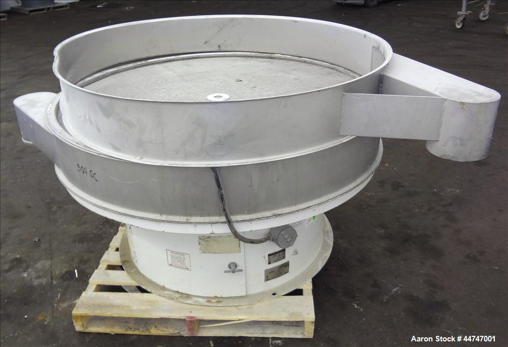 """Used- Sweco Screener, Model US60S888-022, 304 Stainless Steel. 60"""" Diameter, single deck, 2 separation, no top cover. Driven..."""