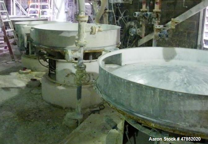 """Used- Sweco 60"""" Vibro Energy Separator, Model US60S88, Stainless Steel."""