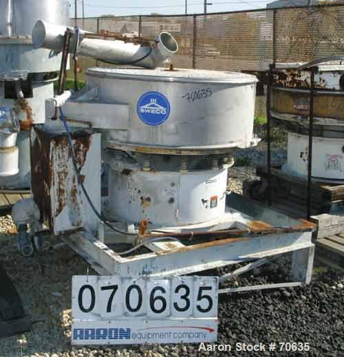 """USED- Sweco 48"""" Single Deck Scalper Unit, Model XS48S158, Stainless Steel. Includes a cleaning deck (no rings). Driven by a ..."""
