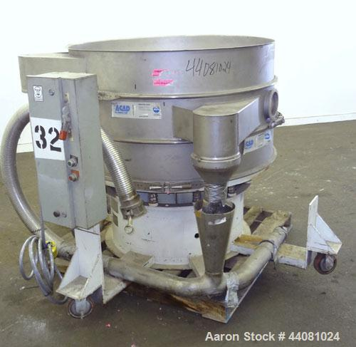 """Used- Sweco Screener, Model XS48S888, 304 Stainless Steel. 48"""" Diameter, double deck, 3 separation, no top cover. Driven by ..."""