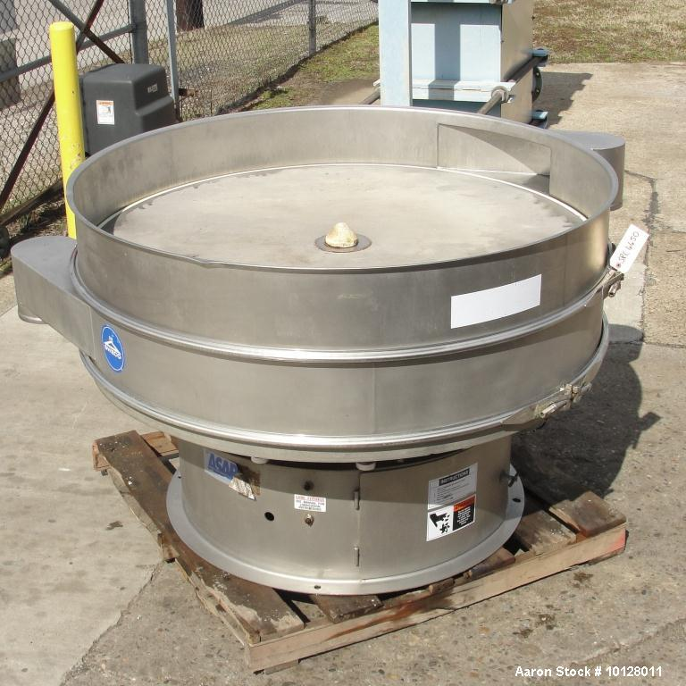"Used-Sweco 60"" Diameter Stainless Steel Screener, Model XS60S88.  The decks are 8"" deep x 60"" diameter with 8"" diameter disc..."