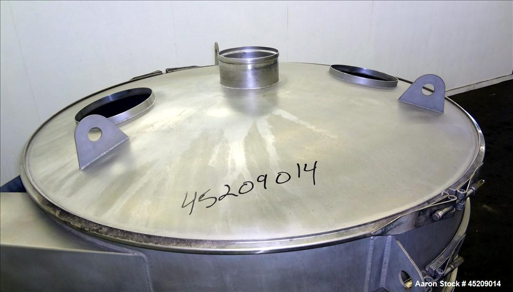 "Used- Sweco Screener, 60"" Diameter, 304 Stainless Steel. Single deck, 2 separations, includes top cover, no screens. Driven ..."