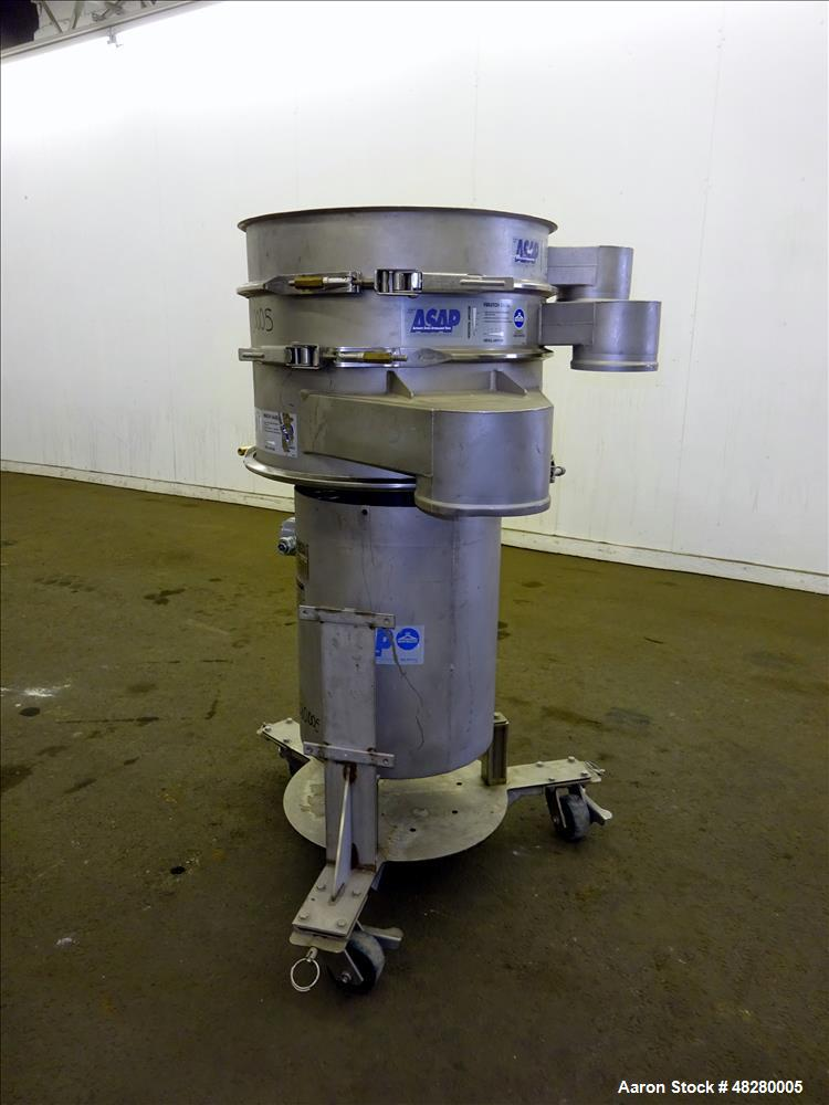 """Used- Sweco 24"""" Screener, Model ZS24S86CBSDFWCXB, 304 Stainless Steel."""