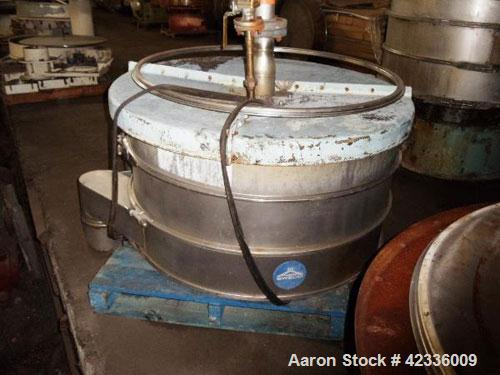 Used- Sweco Screener, Stainless Steel. 48'' Diameter, two deck design with motor drive on base.No motor