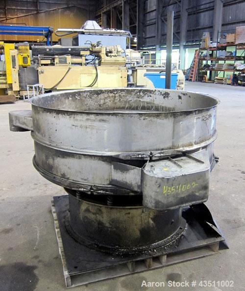 "Used- Sweco Screener, Stainless Steel. 60"" Diameter single deck, 2 separation. No top cover, or screens. Driven by an approx..."