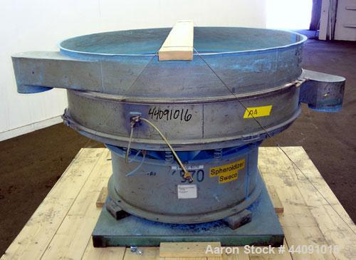 "Used- Sweco Screener, Carbon Steel. 60"" Diameter single deck, 2 separation. No top cover. Driven by a 2.5hp, 3/60/230/460 vo..."