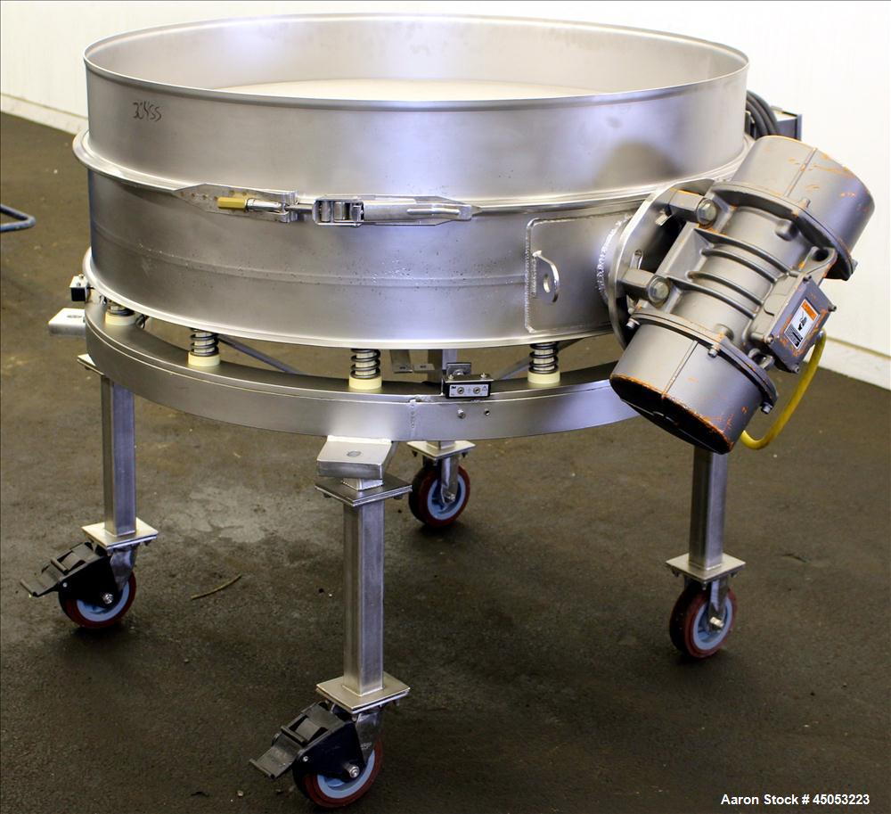 Used- Stainless Steel Sweco Single Deck Vibratory Sieve