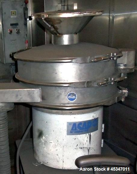 """Used-Sweco Screen, 24"""" diameter, Stainless steel. Single deck, Top cover."""