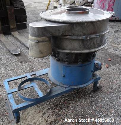 "Used- Sweco Screener, Stainless Steel, Model S24C44. 24"" Diameter, single deck, 2 separation.  Driven by a 1/3 HP, 3/60/550 ..."