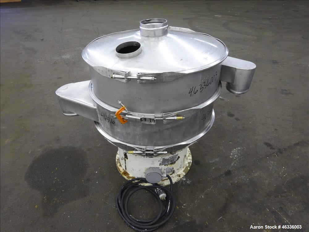 """Used- Sweco Screener, Model LS30S88, 304 Stainless Steel, 30"""" Diameter, Single Deck, 2 Separation. Driven by a 1/2 hp, 3/60/..."""