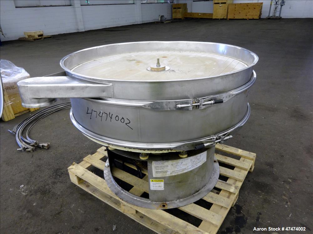 """Used- Screener, 48"""" diameter, 304/316 stainless steel, single deck, 2 separation"""