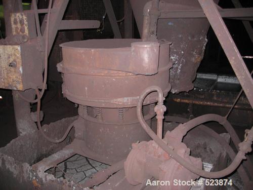 """USED: Sweco screener, 24"""" diameter, single deck, carbon steel."""