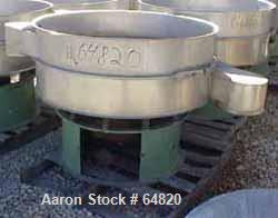 """USED: Sweco separator, 48"""" dia, model A9373AID-8. Single deck, twoseparation, (no top cover), stainless steel decks, carbon ..."""