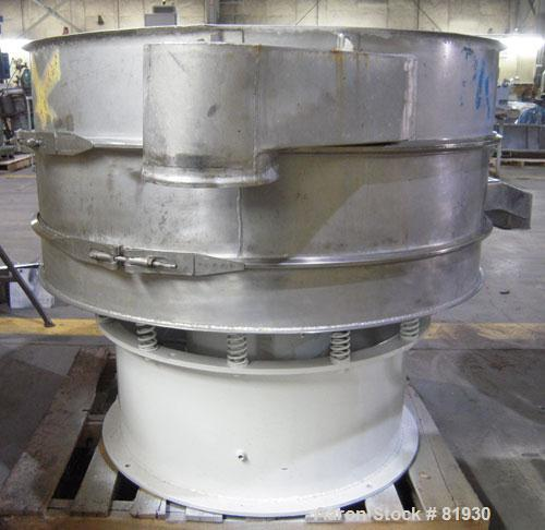 """USED: Sweco Screener, 48"""" Diameter, 316 Stainless Steel.  Double deck, 3 separation, no top cover.  Driven by a 1 HP, 3/60/4..."""