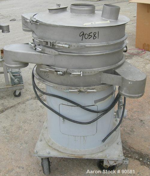"""USED: Midwestern screener, model ME24S4-4-4XP, 304 stainless steel.  24"""" diameter,2 decks,3 separation.  Driven by a  1/2 HP..."""