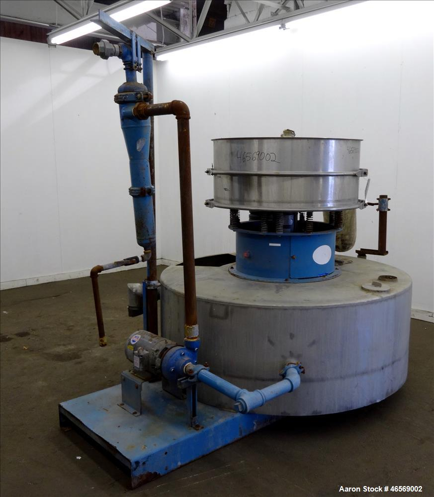 Used- Thermal Engineering of Arizona Shaker Screen Waste Water Filtering System, Model T.E.A. 40, 304 Stainless Steel. Consi...