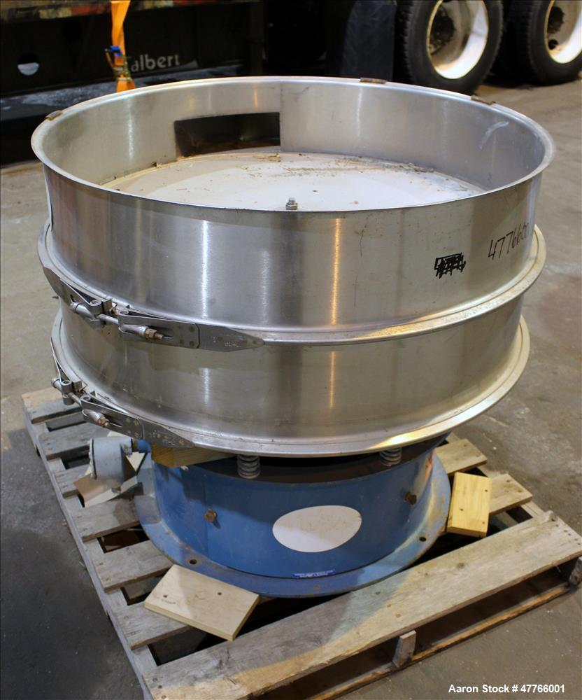 "Used- Thermal Engineering of Arizona Shaker Screen, Model T.E.A. 40, 304 Stainless Steel. 40"" Diameter single deck, (2) sepa..."