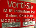 USED: MM Industries Vorti-Siv vibrating sieving and straining machine, model RBF-3, 316 stainless steel. (1) 30