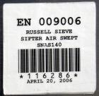 Used- Russell Finex Airswept Sieve, Model AS 140, 304 Stainless Steel. 20