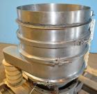 """Used- Stainless Steel Sweco Screener, 18"""" Diameter, Model LS18S53"""