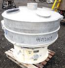 "Used- Sweco Screener, Model US48D88-HS, 316 Stainless Steel. 48"" Diameter single deck, 2 separation. 304 Stainless steel top..."