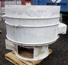 "Used- Sweco Scalper Screener, Model XS60S156, 304 Stainless Steel.  60"" Diameter single deck, 2 separation.  No top cover.  ..."