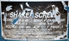 Used- Thermal Engineering of Arizona Shaker Screen, Model T.E.A. 40, 304 Stainless Steel. 40
