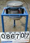 Used- Vorti-Siv Vibratory Sieving Machine, Model RVM-15E, 304 Stainless Steel. (1) 15