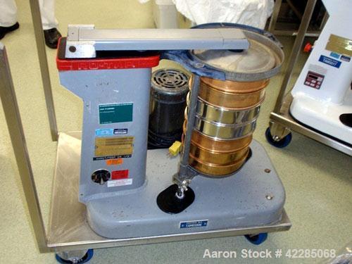 "Used- W.S. Tyler Rotap 8"" Sieve, Model RX-29. 0.25 HP, 115-208/230 volt motor, on base, serial# 1395."