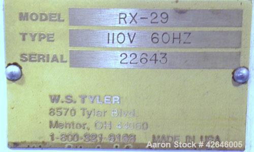 "Used- W.S. Tyler Ro-Tap Testing Sieve Shaker, model RX-29, 8"" diameter. 278 Revolutions per minute, 150 tappings per minute...."