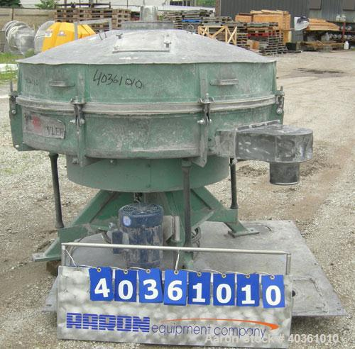 """Used-Tyler Screener, 60"""" diameter, 304 stainless steel, single deck, 2 separation. Includes top cover. Driven by a 2 hp, 3/6..."""