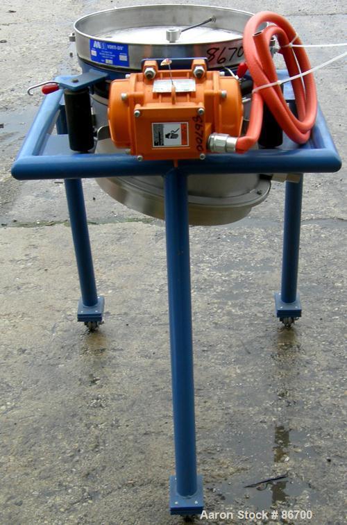 "Used- Vorti-Siv Vibratory Sieving Machine, Model RVM-15E, 304 Stainless Steel. (1) 15"" diameter 80 mesh sieve. Bottom collec..."