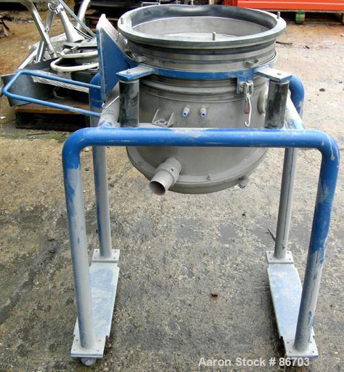 Used- Stainless Steel Vorti-Siv Vibratory Sieving Machine, Model RVM-15E