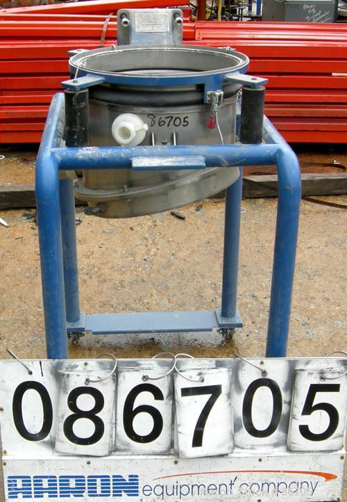 Used- Stainless Steel Vorti-Siv Vibratory Sieving Machine, Model RVM-15E