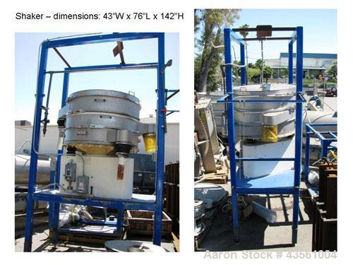 """Used- Vorti-Siv Gyratory Sieve/ Screener, Model VS0048, Stainless Steel. 48"""" Diameter double deck, 3 separation. Includes a ..."""