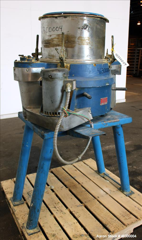"""Used- Vorti-Siv Vibratory Sieving Machine, Model XL AVS20000, 304 Stainless Steel. Approximately 22"""" diameter. Single deck, ..."""