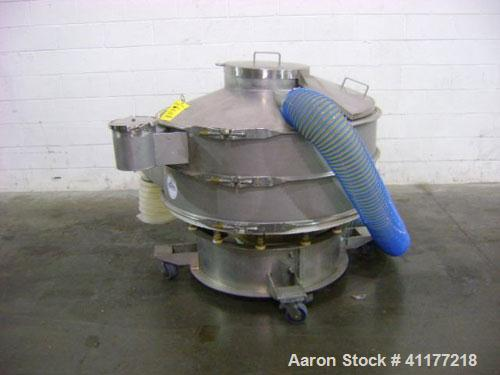 """Used: Sweco XS48S88 48"""" diameter double deck sifter. Separate solids from liquids or segregate dry materials into various si..."""