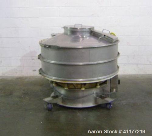"Used: Sweco XS48S88 48"" diameter double deck sifter. Separate solids from liquids or segregate dry materials into various si..."
