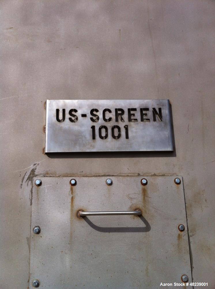 Used- US Screen Hydratower. odel 72 Tandem Static Screen