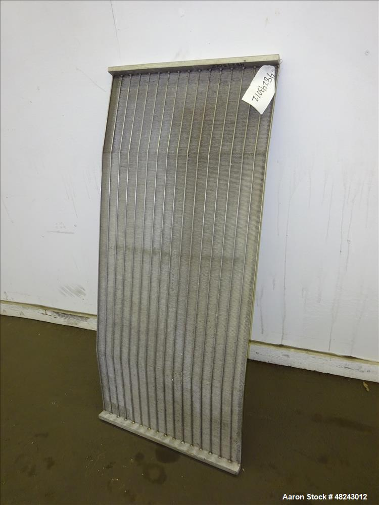 "Used- DSM Sieve-Bend Screen, 24"" Wide, 304 Stainless Steel."